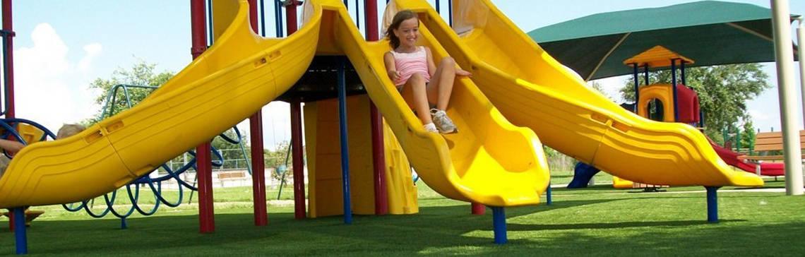 Playground surfacing artificial turf